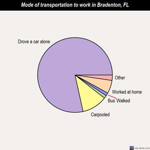 Bradenton mode of transportation to work chart