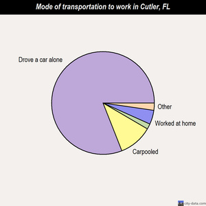 Cutler mode of transportation to work chart