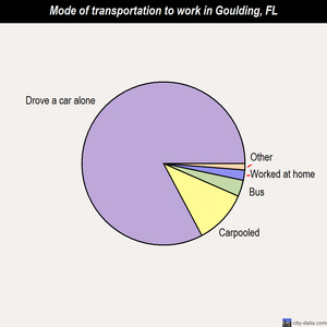 Goulding mode of transportation to work chart