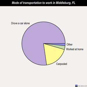 Middleburg mode of transportation to work chart
