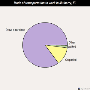Mulberry mode of transportation to work chart
