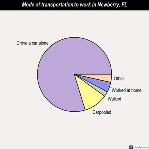 Newberry mode of transportation to work chart