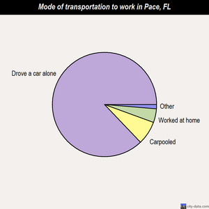 Pace mode of transportation to work chart