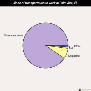 Palm Aire mode of transportation to work chart