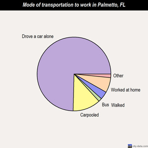Palmetto mode of transportation to work chart