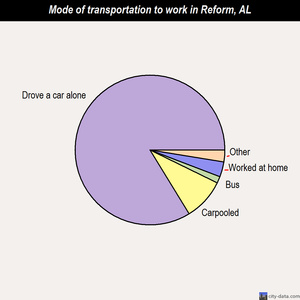 Reform mode of transportation to work chart