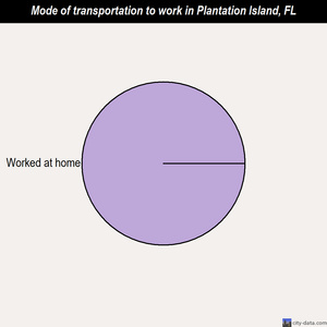 Plantation Island mode of transportation to work chart