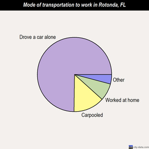 Rotonda mode of transportation to work chart