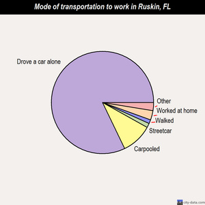 Ruskin mode of transportation to work chart