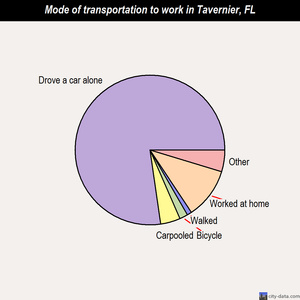 Tavernier mode of transportation to work chart