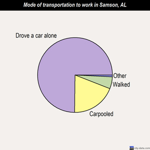 Samson mode of transportation to work chart