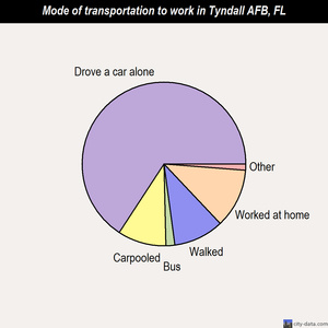 Tyndall AFB mode of transportation to work chart