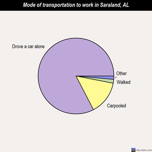 Saraland mode of transportation to work chart