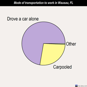 Wausau mode of transportation to work chart