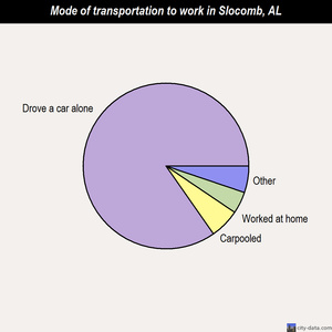 Slocomb mode of transportation to work chart