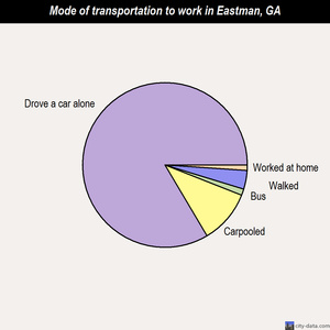 Eastman mode of transportation to work chart
