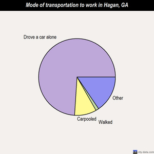 Hagan mode of transportation to work chart