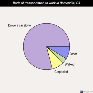 Homerville mode of transportation to work chart