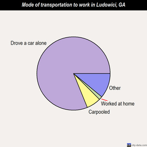 Ludowici mode of transportation to work chart