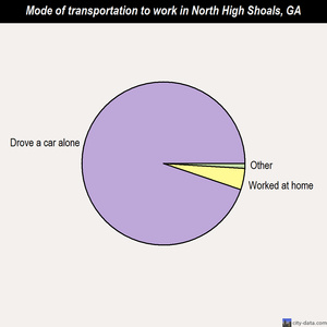 North High Shoals mode of transportation to work chart
