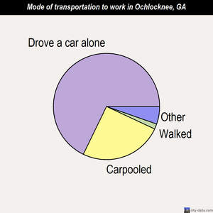 Ochlocknee mode of transportation to work chart
