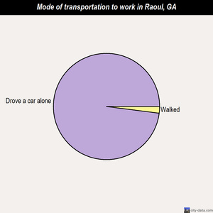 Raoul mode of transportation to work chart