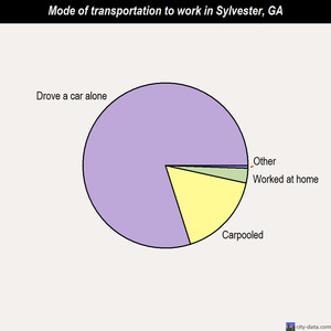 Sylvester mode of transportation to work chart