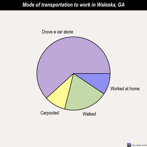 Waleska mode of transportation to work chart