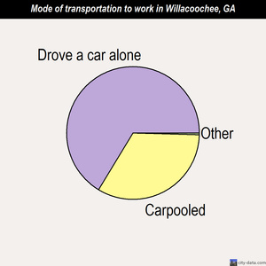 Willacoochee mode of transportation to work chart