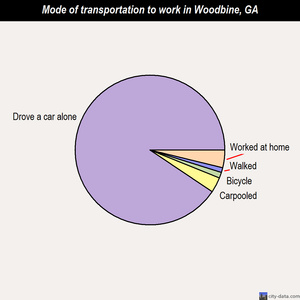 Woodbine mode of transportation to work chart