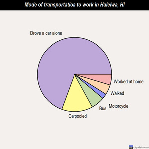 Haleiwa mode of transportation to work chart