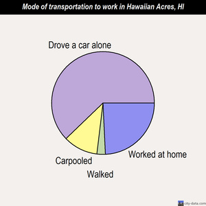 Hawaiian Acres mode of transportation to work chart