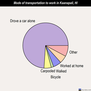 Kaanapali mode of transportation to work chart