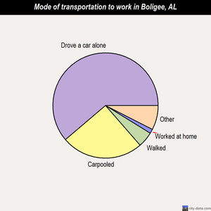 Boligee mode of transportation to work chart