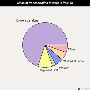 Paia mode of transportation to work chart