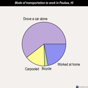 Paukaa mode of transportation to work chart