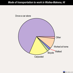 Wailea-Makena mode of transportation to work chart