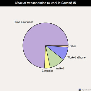 Council mode of transportation to work chart