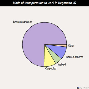 Hagerman mode of transportation to work chart