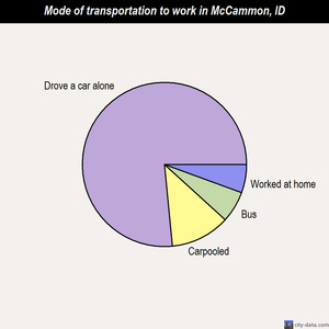 McCammon mode of transportation to work chart