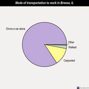 Breese mode of transportation to work chart