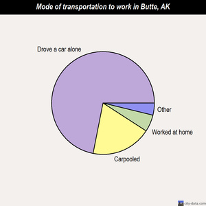 Butte mode of transportation to work chart