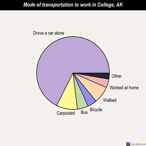 College mode of transportation to work chart