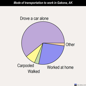 Gakona mode of transportation to work chart