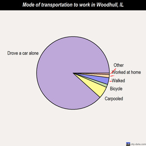 Woodhull mode of transportation to work chart