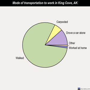 King Cove mode of transportation to work chart