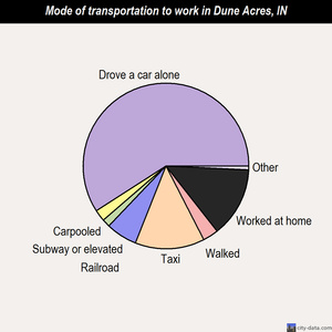 Dune Acres mode of transportation to work chart