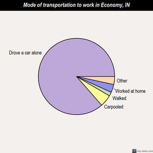 Economy mode of transportation to work chart