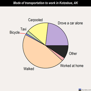 Kotzebue mode of transportation to work chart