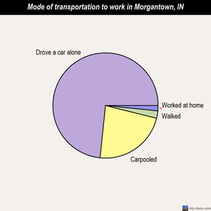 Morgantown mode of transportation to work chart